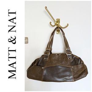NWOT Matt & Nat brown shoulder bag